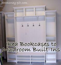 Adding Mudroom Built-Ins to the Garage via TheKimSixFix.com