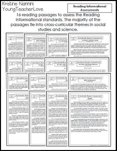Over 16 Reading Informational Passages and 13 Reading Informational Passages with assessments and answer keys for the ENTIRE year! This pack also includes writing prompts, with student sample answer key papers of a what a level 4 writing looks like, a level 3 writing looks like, etc.! Plus writing partial complete assessments and answer keys, and language assessments! You have supplements for your ENTIRE year of ELA Teaching!$