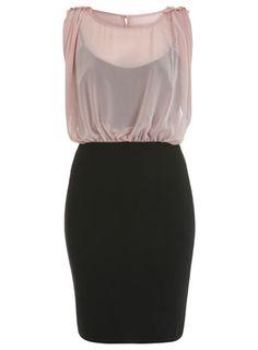 MISS SELFRIDGE Epaulette Blouson Top Dress RRP: £39.00