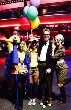 Disney on Halloween! My family was the characters from Up :)