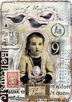 art journal, collag card, peace, mixed media, collages, atc, mix media, mail art, cards