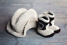 The Western  Set- Cowboy Baby Booties and Plain Hat. I will have this.