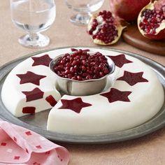 Vanilla Cream with Pomegranate-Raspberry Stars