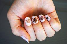 Cat nail decal