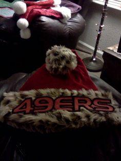 Homemade 49er christmas hat!