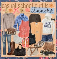 """Casual School Outfit Ideas ♥"" by tipandadvicegoddessess ❤ liked on Polyvore"