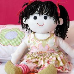 Rag doll  Adorable.. with both knitting and sewing. Full free pattern available online.