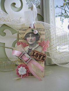 Valentine's Day Tag  Victorian Gift Tag  Shabby Chic by AvantCarde, $18.00
