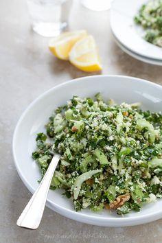 cauliflower. herbs. olives.