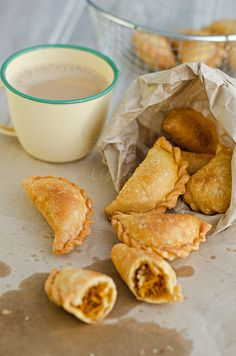 Yeah, definitely going to try a gluten free version of this, Malaysian curry puff with coconut filling!