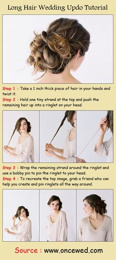Long Hair Wedding Up-Do Tutorial