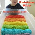 Kids Frugal Fun:  Easy St Patricks Day Crafts-How To Make Rainbow Rice