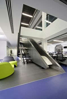 Red Bull offices in London  #reception #reception_desk,  #reception_design, #reception_area reception desks,  reception design, reception area