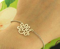 Monogram Bracelet...so want one of these!