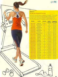 The Fat-Burning Walking Workout Plan - 45 minute treadmill trimmer for those who dont like running.