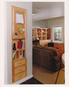 Built in drawers between wall studs