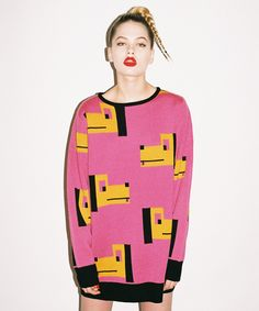Lazy Oaf Doggies Knitted Jumper