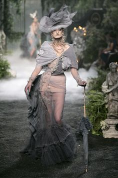 john galliano, christian dior, dress, outfit, corset