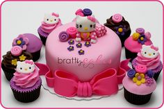 Hello Kitty Baby Shower Cupcakes & Cake!
