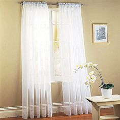 Mainstays Marjorie Sheer Voile Panels, Set of 2