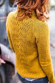 Ravelry: Reverb pattern by Tanis Lavallee hair colors, patterns, tani lavalle, fall sweaters, knit, wool, ravelry, people, back details