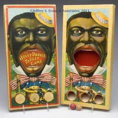 "Milton Bradley Black Americana Game ""The Jolly Darkie Target Game"""