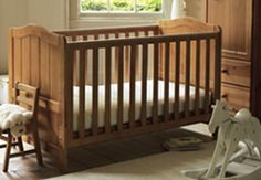 Wooded Baby Cot