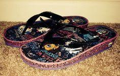 MONSTER HIGH FLIP FLOPS shoes Wedge sandals NEW STYLE SIZE GIRLS 13/1 NEW #FlipFlops