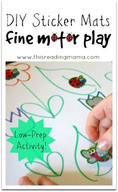 diy sticker mats for fine motor play | this reading mama