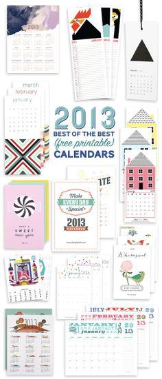 Benign Objects: 2013 (Free) Printable Calendar Roundup