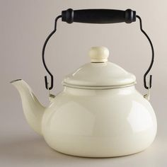 One of my favorite discoveries at WorldMarket.com: Ivory Vintage-Style Kettle