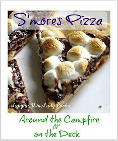 smores pizza   www.wineladycooks.blogspot.com