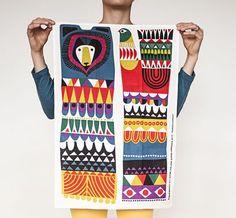 Sneak peek of upcoming design 'Kukkuluuruu' by Sanna Annukka for Marimekko