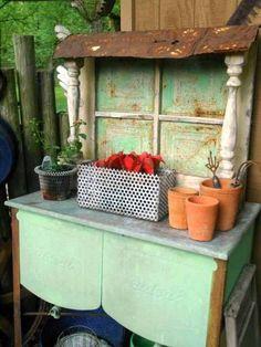 window dressings, garden juli, wash tubs, window panes, window coverings, flowers garden