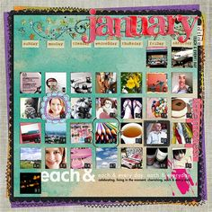 #papercraft #scrapbook #layout and #projectlife recap