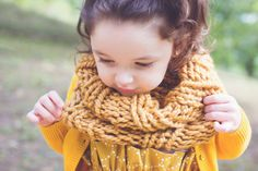 Toddler Fall Harvest Mini Chunky Cowl Holiday outfit