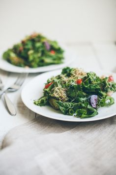 Leafy Sprouts Salad with Sorghum Chili Vinaigrette / Food Loves Writing
