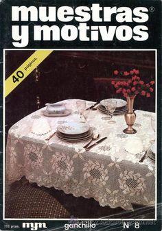 Revista *MUESTRAS Y MOTIVOS Nº 8 · Año 1981* -- Ganchillo - Crochet -- Ed. MYM