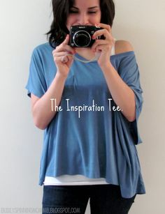 busily spinning momma: Laid- Back Summer Tee - TUTORIAL