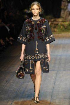 Dolce & Gabbana Winter 2015 Collection #MFW #AW14  #FashionWeek milan, fashion weeks, catwalks, winter, autumn, dolc, fall 2014, gabbana fall, fallwint 20142015