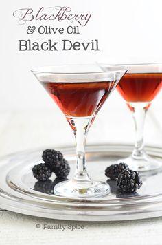 Blackberry Black Devil with Olive Oil #cocktail #recipe