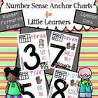 Easy to read Number Sense Anchor Charts for Little Learners! Bright and colorful, but clean and simple design is easy to read, not overwhelming or ...