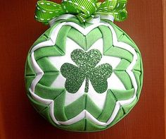 St Patrick's Day Quilted Ornament.