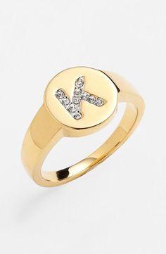 Bling bling, initial ring.