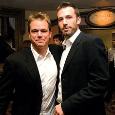 Ben and Matt great bromance, no homo