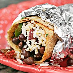 Meatless Monday: Black Bean Burrito with Cilantro-Lime Rice