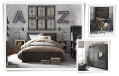 Industrial Chic Teen Boy's Room