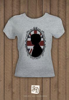 Sherlock Holmes BBC cameo t-shirt  , union jack. $20.00, via Etsy.
