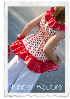 Strawberry Peasant Top  26 by KinderKouture on Etsy, $38.00