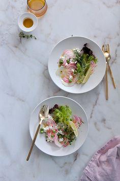 Chioggia Beet Salad www.foodandcook.net